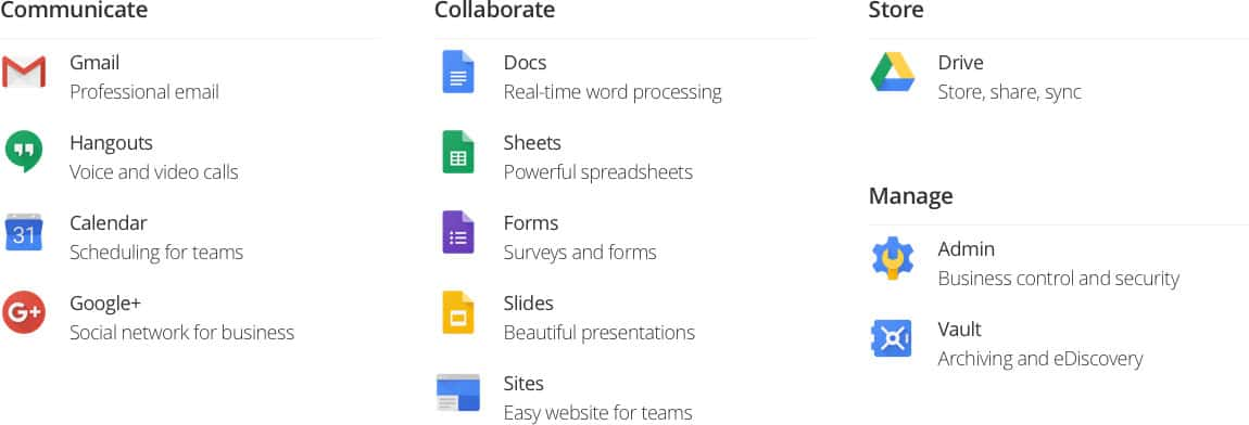 Premium Email, Google Apps, Business Email | Baggies Web